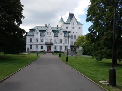 Front pałacu w Studence
